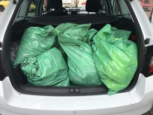 gefüllt Müllsäcke der Bremen räumt auf Aktion